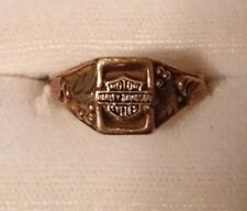 10k Black Hills Gold Ladies Ring Harley Davidson 6 Stamper