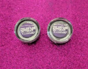 MAYBELLINE COLOR TATTOO METAL #20 PAINTED PURPLE LOT OF 2 SEALED + GIFT