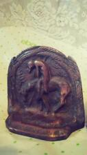 Set of Two Vintage Brass Native American Indian 'End of the Trail' Bookends