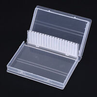"20 hol nail drill bit box plastic display stand container for 3/32"" bits dril PV"