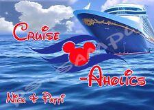 5x7 CUSTOM Disney Cruise Door Magnet - CRUISE-AHOLICS