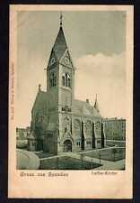 98037 AK Berlin Spandau Luther Kirche Vollbild um 1905