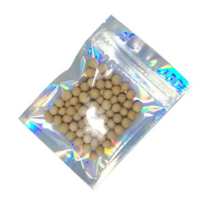100x Laser Clear Plastic Aluminum Foil for Zip Mylar Bag Lock Food Grade Pouches