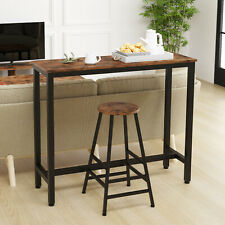 IRONCK 2-Piece Pub Bar Table Set, Industrial High Top Table with Bar Stool Chair