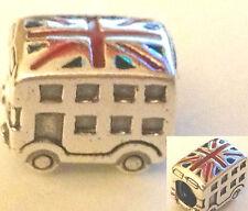 Authentic Pandora Silver Best of British London Bus Bead 791049ER