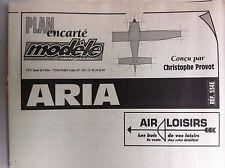 """20)Plan Avion Modèlisme """"Aria"""" du modèle magazine n°534"""