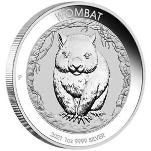 Australien - 1 Dollar 2021 - Wombat - Premium-Anlagemünze - 1 Oz Silber ST