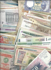100 Different Circulated World Banknotes - Many Hyperinflation!!