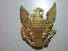 ORIG. Post Civil War US  DRESS Eagle Army Artillery Helmet or Hat Badge PLATE