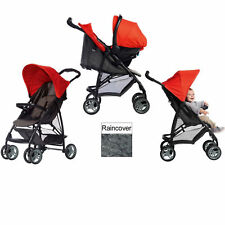 Graco Black / Red LiteRider Travel System Baby Pushchair With Car Seat