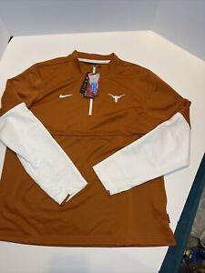 Texas Longhorns Nike Therma Dri-Fit Sideline Orange 1/2 Zip Golf Jacket Men's L