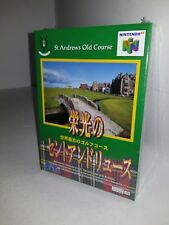 NEW Sealed ST Saint Andrew's Old Course Golf for Japanese N64 Nintendo 64 K54