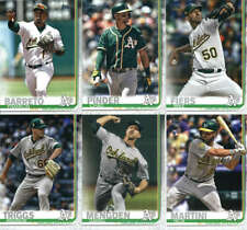 2019 Topps Series 2 Baseball Oakland Athletics Team Set of 10 Cards
