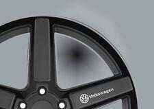 VW Wheel White Vinyl Logo Stickers,Graphics,Decals