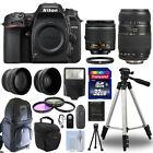 Nikon D7500 Digital SLR Camera + 4 Lens Kit: 18-55mm VR + 70-300mm + 32GB Kit