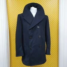 Vtg 2001 US Navy Wool Enlisted Bridge naval reefer mariner Pea Coat Jacket 42s