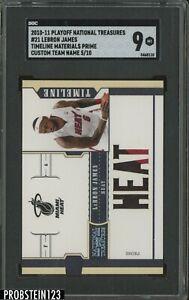 2010-11 Playoff National Treasures Timeline LeBron James Jersey /10 SGC 9