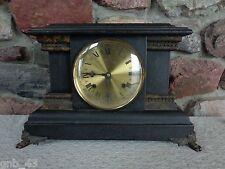 "Antique New Haven ""Pembroke"" Mantel Clock No Key for Parts Restoration Repurpose"