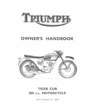 Triumph Owners Manual Book 1963 Tiger Cub T20, T20SS & T20SH