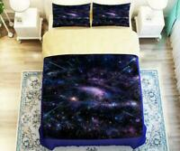 3D Purple Starry Sky Universe KEP2518 Bed Pillowcases Quilt Duvet Cover Kay