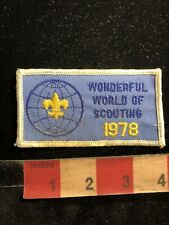 Vintage 1978 WONDERFUL WORLD OF SCOUTING Boy Scouts Patch 99RD