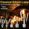 E27 E14 4-16W COB LED EDISON AMPOULE À FILAMENT G45/A60/ST64 LAMPE À LED 10PCS