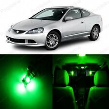 8 x Green LED Interior Lights Package For 2002 - 2006 Acura RSX + PRY TOOL