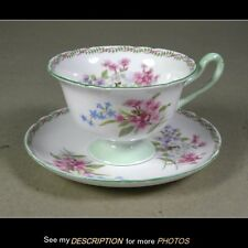 Shelley England Bone China STOCKS green gainsborough Cup & Saucer