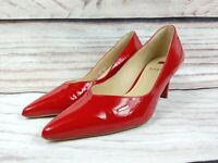 Ladies HOGL Red Patent Leather Point Toe Heels Shoes Size UK 3 EU 36
