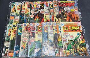 G.I. Combat Lot of 37! (#141-200) 1970-1977 Joe Kubert Bronze Age DC War Comics