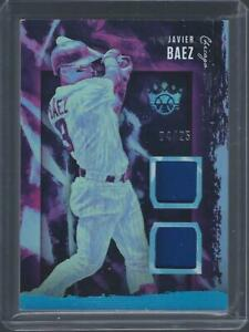 Javier Baez 2020 Diamond Kings Dual Relic Holo Blue 04/25 Chicago Cubs