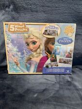 Disney Frozen 5 Wood Puzzles Pack by Cardinal Brand NEW Sealed