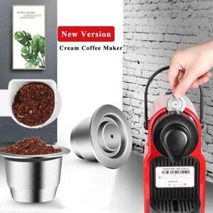 Reusable Coffee Capsule Pod Espress For Nespresso Lattissima inissia LOR Barista