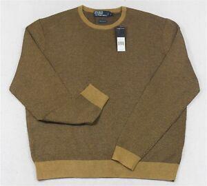 Polo Ralph Lauren Cotton Crewneck Sweater Herringbone Size XL NWT $145