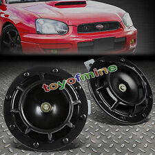 2X SUPER LOUD BLAST TONE GRILL MOUNT 12V ELECTRIC COMPACT CAR HORN 335/400HZ BLK