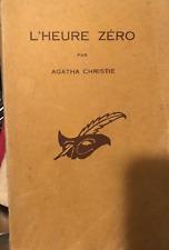 l'heure zéro par Agatha Christie ( vieille édition )