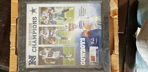 Dallas Cowboys Framed 2014 champions Piece of Game-Used Football limited edition