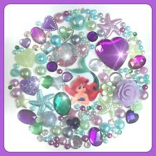 Disney The Little Mermaid Theme Cabochon Gem & pearl flatbacks, decoden craft #4