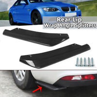 Universal Carbon Car Rear Bumper Spats Splash Guard Extend Valance Lip Diffuser