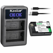 LP-E6 Battery & LCD USB Charger for Canon EOS 5DS, 5DS R, 5D Mark II, 6D, 7DSV