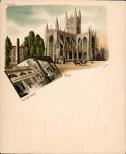Bath. Court Size Card # 1228. Abbey & Roman Bath.