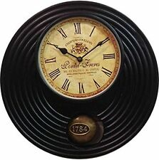 Indian Ethnic Pendulum Wall Clock With Roman Numbers Beautifully Handcrafted