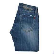 REPLAY Women Jeans Ladies Pants Size W28 Blue Zip fly Straight Low Rise Genuine