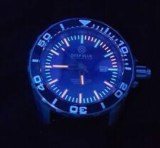Deep Blue Divers Watch T-100 Tritium has Exhibition Back