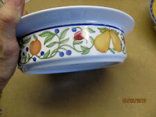 "DANSK  ""FIANCE FRUITS"" (THAILAND) TWO ROUND VEGETABLE BOWLS"