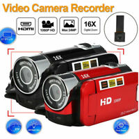 "Full HD 1080P 2.7"" LCD Digital Video Camera Camcorder DV 16X Zoom ST"