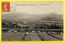 Carte Postale 58 - SAINT HONORE les BAINS La Vieille MONTAGNE Berger Moutons