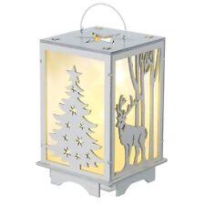 Heaven Sends Madera Iluminación Led Farol Navidad Reno Decoración Hogar