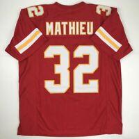 New TYRANN MATHIEU Kansas City Red Custom Stitched Football Jersey Size Men's XL