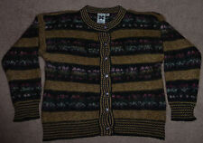 Icelandic Design Silk and Wool Blend Button-Front Sweater, Women's S